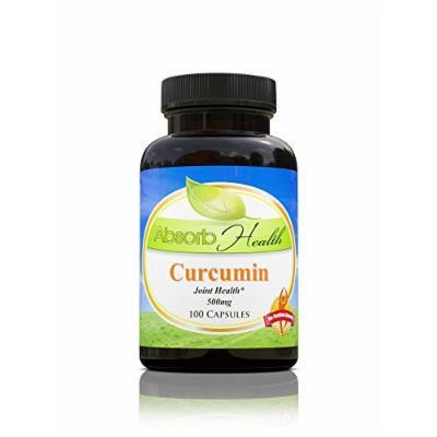 Curcumin (95% Curcuminoids) , Potent Anti-Inflammatory and Antioxidant , 100 Capsules 500mg per Capsule