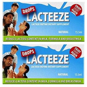 2 pack Lactase Enzyme Lacteeze Drops 15.5 ml Liquid