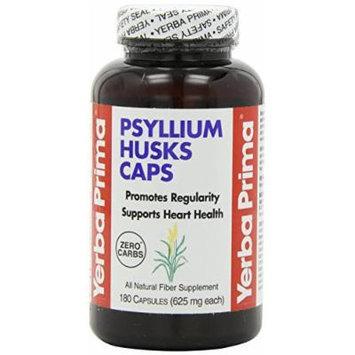 Yerba Prima Psyllium Husks , 625 Mg, 180 Capsules (4 Pack)