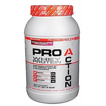 Reaction Nutrition Recor Pro Action Whey Protein, Chocolate Covered Strawberry, 2 Pound