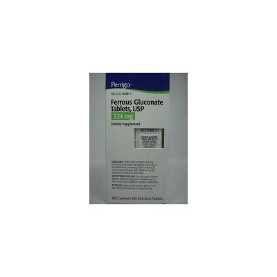 Ferrous Gluconate Tablets 324mg. 100 Tablets Blister Packs (Pack of 3)