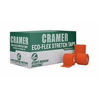 Cramer Eco-Flex Stretch Tape, Self-Stick, Cohesive, Bulk Case of 6 Yard Rolls, Assorted Colors, 2