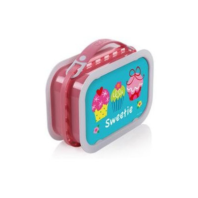 Yubo Deluxe Lunchbox with Cupcakes Design in Pink