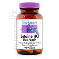 Bluebonnet Nutrition Bluebonnet - Betaine HCI Plus Pepsin - 90 Vc. 2 Pack