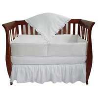 American Baby Company Heavenly Soft 4 Piece Crib Bedding Set White