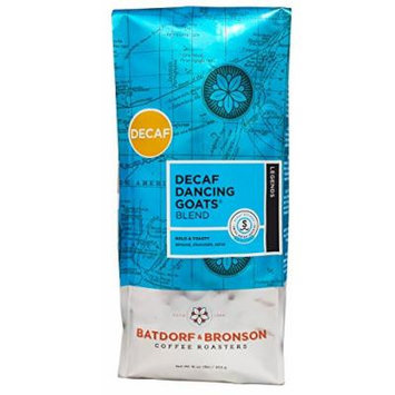 Batdorf & Bronson Coffee Roasters - Decaf Dancing Goats Blend - Roasted Whole Bean Coffee (16oz)