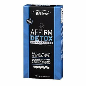 5 Pack - Total Eclipse Affirm Detox Maximum Strength 4 Cleansing Capsules with Free Im Baked Bro and Doob Tubes Sticker