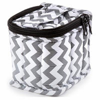 Soft Essential Carrying Cases 9-bottle 10 ml, 10 ml Roll Ons - 4x3x3 (Chevron / Grey)