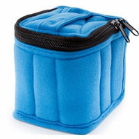 Soft Essential Carrying Cases 9-bottle 10 ml, 10 ml Roll Ons (Blue / Baby Blue)
