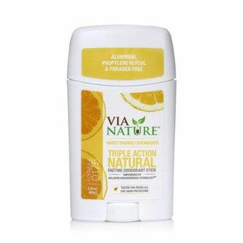New - Via Nature Deodorant - Stick - Sweet Orange Lemongrass - 2.25 oz