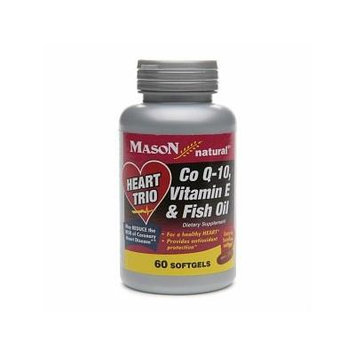Mason Natural Heart Trio, Co Q-10, Vitamin E & Fish Oil, Softgels 60 ea