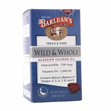 Barlean's Organic Oils Wild & Whole Alaskan Salmon Oil, Softgels 90 ea