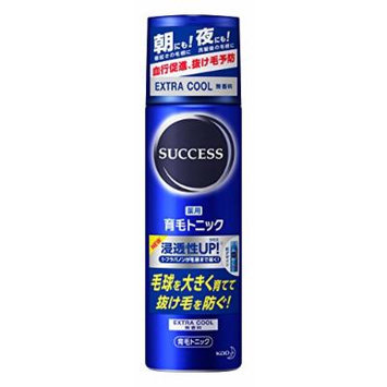 Kao SUCCESS Medicated hair growth tonic extra cool fragrance-free (180g)