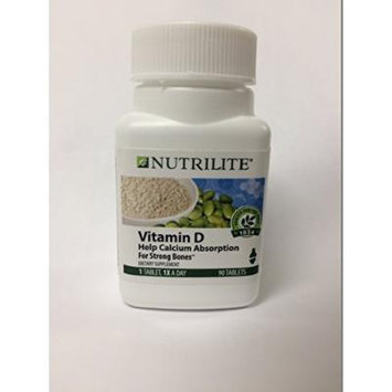 New Nutrilite vitamin D3 90 Tablets 2000 IU plus vitamin K2 By Amway exp : 01/2017 or later