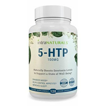 BEST 5-HTP Supplement , IntraNaturals 5-HTP , 100mg (The Ideal Dosage) 120 Capsules - Helps to Improve Your Overall Mood, Aids in Relaxation & Sleep, Increases Appetite Control - IntraNaturals Lifetime Guarantee