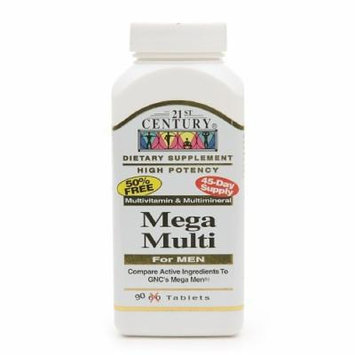 21st Century Mega Multi for Men, Multivitamin & Multimineral 90 tablets Pack of 2