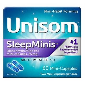 Unisom Sleep Mini's Diphendydramine HCI Mini-Capsules, 60 Count Pack of 3