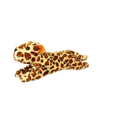Vip Products Mighty Lenny Leopard Safari Dog Toy, Yellow and Orange