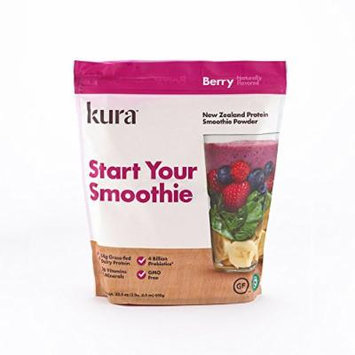 Kura Nutrition New Zealand Protein Smoothie Powder, Berry, 32.5 Ounce