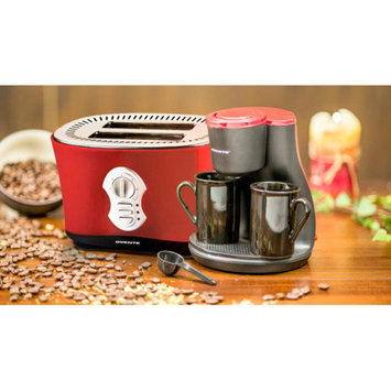 Ovente 2-Cup Coffee Maker with 2-Slice Toaster