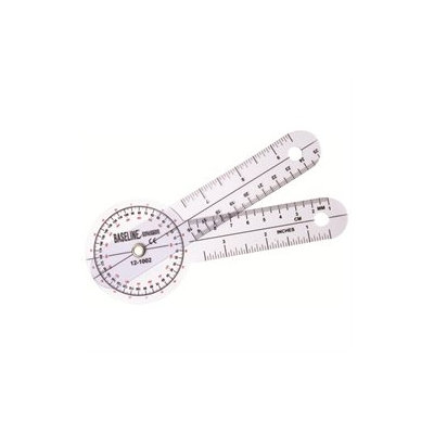 Baseline 12-1002 Plastic Goniometer 360 Degree Head 6 Inch Arms