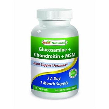 Best Naturals, Glucosamine Chondroitin MSM Supplements, 2600 mg per serving, 90 Capsules