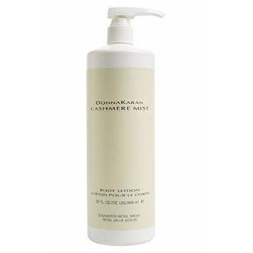 Donna Karan * Cashmere Mist * Body Lotion Large Size 32 oz. / 946 ml With Pump. Limited Edition. Retail Value $235