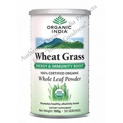 Organic India Wheat Grass Energy & Immunity Boost 100 Gm - With Free Gift Samples and Free Shipping