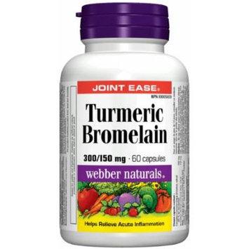 Webber Naturals Turmeric & Bromelain, 60 caps