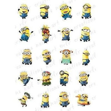 20 NAIL DECALS *DESPICABLE ME 2 MINIONS / 20 DIFFERENT * WATER SLIDE NAIL DECALS