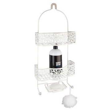 Taymor Petite Flower Shower Caddy (White)