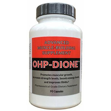 OHP-dione: Promotes muscular growth, increases strength levels, boosts energy levels and boosts libido. - 90 capsules per bottle