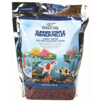 Mars Fishcare Pondcare Summer Staple Pellet Fish Food, 20-Ounce