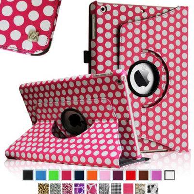 Fintie Rotating Leather Case Cover for Apple iPad Mini 2 (2013 Edition) & Mini (2012 Edition), Polka Dot