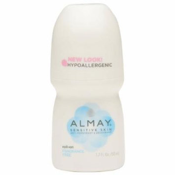 Almay Roll-On Antiperspirant & Deodorant, Fragrance Free 1.7 oz Pack of 4