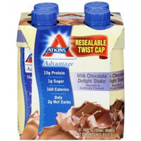 Atkins Ready To Drink Shake, Milk Chocolate Delight, 4x11oz Shake (Pack of 6) 24 Total Shakes