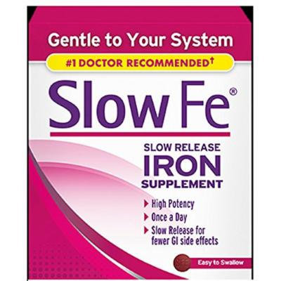 Slow Fe Slow Release Iron Supplement 30 Count per Box (3 Boxes)