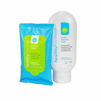 healthy hoohoo All Natural Gentle Feminine Wash (4.0 OZ) and Travel Pack of Wipes (10 Wipes) Combo Pack