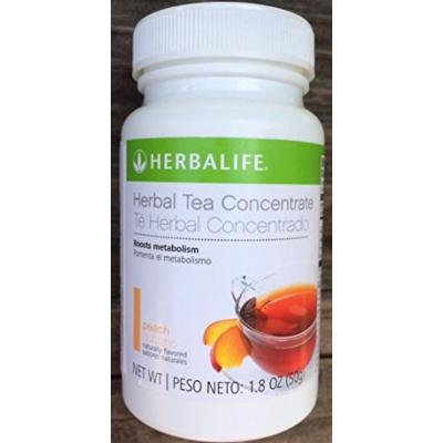 Herbalife Herbal Tea Concentrate 1.8oz - Peach Flavor - A Low-Calorie Blend of Black Tea Orange Pekoe and Green Tea for Antioxidant Support and to Boost Metabolism