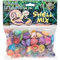 T-Rex Crab Island Hermit Crab Shell Mix, 4 oz.