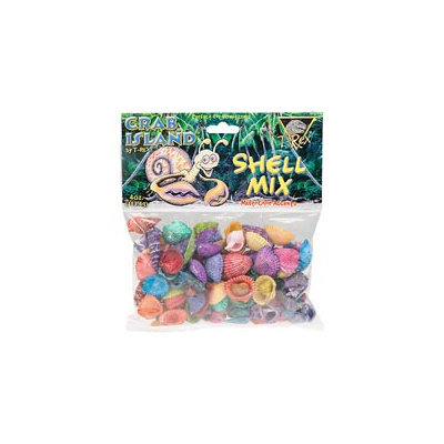 T-Rex Crab Island Hermit Crab Shell Mix, 4 oz.