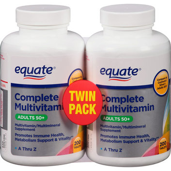 Equate Complete Adults 50+ Multivitamin/Multimineral Supplement Tablets