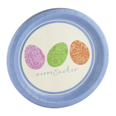 Hallmark Plates Easter Plaid - 8 CT