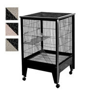 A & E Cage Co. Medium 2 Level Small Animal Cage on Casters