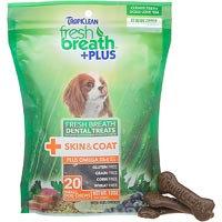 Tropiclean Fresh Breath Plus Small Dental Treats - Skin & Coat - 12oz