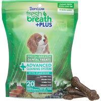 Tropiclean Fresh Breath Plus Dental Dog Treats 20 Ounce-Small Advanced Clean 001633
