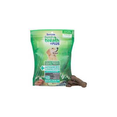 Tropiclean Fresh Breath Plus Regular Dental Treats - Advanced Cleaning System - 12oz