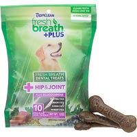 Tropiclean Fresh Breath Plus Regular Dental Treats - Hip & Joint - 12oz
