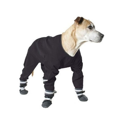 Muttluks 4-Legged Dog Jog Rain Suit, Size 16, Black