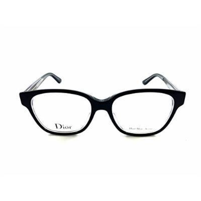 Christian Dior Montaigne 08 C99 Black Crystal Prescription Eyewear Frames